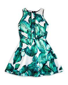 5f64c3d6f3e1 Miss Behave Girls  Leaf Print Dress - Sizes S-XL Kids - Bloomingdale s