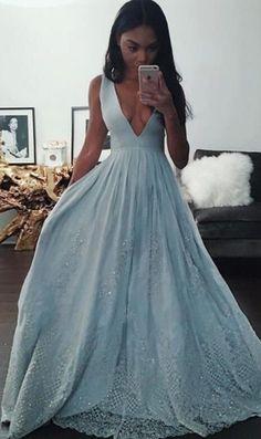 Deep V-neck Prom Dress,Charming Long Prom Dresses,Sexy Party Dress,Long Formal Dress,Long Evening Dress,Evening Gown