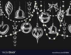 Balls, garlands and stars on blackboard - New Ideas Vector Christmas Chalkboard Ornament. Balls, garlands and stars on blackboard Vector Christmas Chalkboard Ornament. Balls, garlands and stars on blackboard Blackboard Art, Kitchen Chalkboard, Chalkboard Drawings, Chalkboard Lettering, Chalkboard Designs, Diy Chalkboard, Blackboard Drawing, Christmas Art, Christmas Ornaments