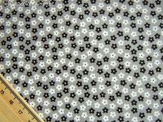 Floral pequeno - cinza (corte único 0.44 m) - Tecidos