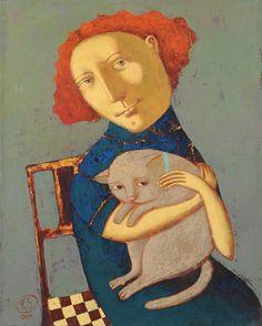 Cat_of_My_Ex-Boyfriend,  SvetLana Rumak, - was born in 1969 in Poltava, Ukraine  el baúl que no tenía mi abuela