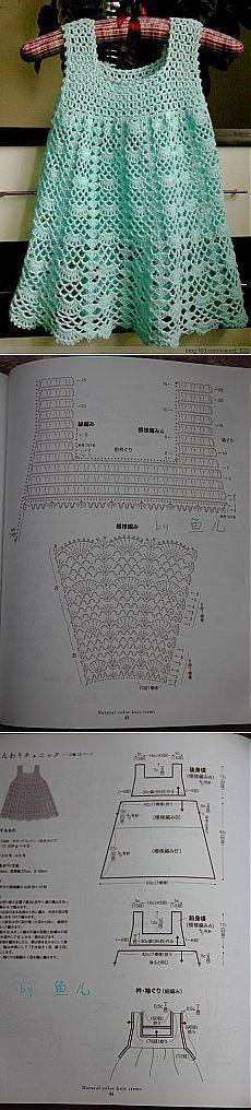 Детские платья крючком схемы.  | <br/>    Crochet