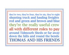 Thomas the Train Themed Artwork by crazyJAX on Etsy, $5.00. I think I could make this too!