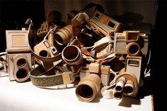 Cardboard Cameras by Kiel Johnson Cardboard Camera, Repurpose, Cameras, Paper Art, Art Projects, Crafts, Photography, Kiel, Papercraft