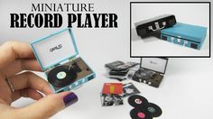Hey there! Today I'm going to show you how to make this miniature retro record player. It's super cute and fun to make. I hope you like it! ☺ - - - - - - - -...