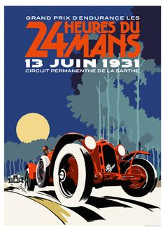 Le Mans 24 Hours 1931 Alfa Romeo Poster Note grammatical error. Notez l'erreur grammaticale. Note o error gramatical.
