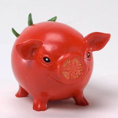 Home Grown Tomato Hog Figurine $19