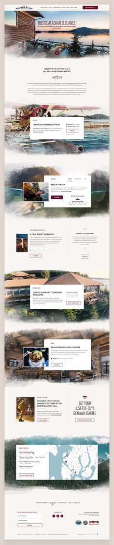 Website design, Web design, Hotel website, Resort website, fishing, fishing website, wide photography