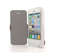 isako iphone 5 iphone 5s iphone 5c backup battery charger flip case cover 4200mah ultra
