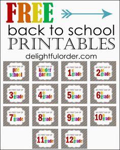 Delightful Order: Free Back to School Printables