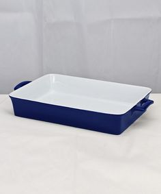 Loving this Cobalt Blue Rectangular Handle Baker on #zulily! #zulilyfinds