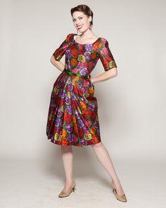 Vintage 1960s Dress Bud Kilpatrick Floral I Magnin Holiday Fashions. $625.00, via Etsy.