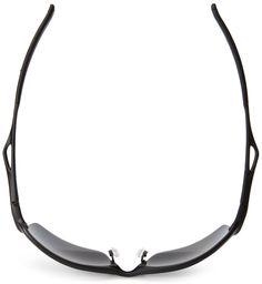 Amazon.com  Oakley mens Wiretap OO4071-05 Iridium Polarized Sport  Sunglasses,Matte Black Black Iridium ,55 mm  Clothing d58e5eeeaf
