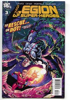 Legion Of Super-Heroes 3 A DC 2010 NM Signed Paul Levitz