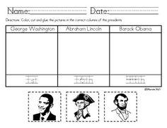 math worksheet : 1000 images about presidents on pinterest  presidents day  : Presidents Day Worksheets Kindergarten