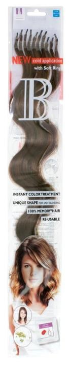 New Hair Extensions method by Balmain Hair.   Balmain Hair Introduces No Bonds, No Heat System      The perfect method for clients who do not want a bonded system, offering yet another quick, affordable & bond free solution. Balmain Hair Soft Ring System:       100% human hair   Reusable   6 month hair quality guarantee   12 beautiful colours   Free Education available   50 piece value packs   Silicone coated rings protect natural hair