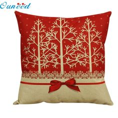 Ouneed Happy 2016 High Quality Beauty Trees Vintage Christmas Bed Home Pillow Case