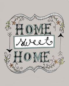 Home sweet home chalkboard art designs
