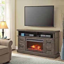 the electric mantel heater media entertainment console home pin stand fireplaces for center with san fireplace tv andorra