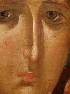 Icon - Mother of God ( portrait detail) Byzantine Icons, Byzantine Art, Religious Icons, Religious Art, Face Icon, Religious Paintings, Orthodox Icons, Art Graphique, Mother Mary