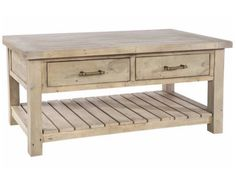 Saltash Reclaimed Wood Coffee Table with Drawers                                                                                                                                                     More