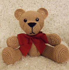 "Teddy Bear - Free Amigurumi Pattern - PDF Format - Click:""download"" here: http://www.ravelry.com/patterns/library/teddy-bear-53 ༺✿Teresa Restegui http://www.pinterest.com/teretegui/✿༻"