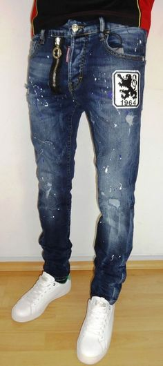 mens Jeans – High Fashion For Men Denim Jeans Men, Ripped Jeans, Jeans Pants, Blue Jeans, G Star Raw Jeans, High Jeans, Fashion Pants, Mens Fashion, Bermudas Shorts