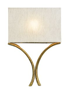 Currey & Company 5901 Cornwall 1 Light 15 inch French Gold Leaf Wall Sconce Wall Light