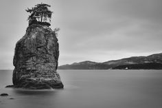 Siwash Rock - Took a trip to Stanley Park this morning with the tripod, made it down to Siwash Rock. This is a stack of four 15 second exposures with a 10 stop ND filter in place.