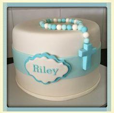 Christening Cake Boy Simple, Christening Party, Baby Boy Baptism, Baptism Cakes, Baby Birthday Cakes, Cupcake Birthday Cake, 1st Boy Birthday, Comunion Cakes, Boy Communion Cake