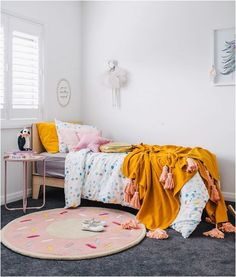 Addison's amazing bedroom in this month's out next week! Room by and styling by Boy And Girl Shared Bedroom, Baby Bedroom, Little Girl Rooms, Girls Bedroom, Bedroom Decor, Toddler Rooms, Kids Rooms, Baby Rooms, Teenage Room