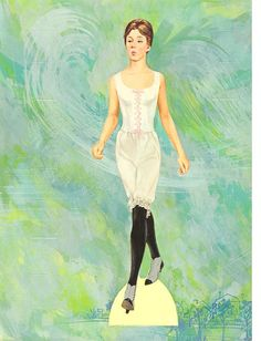 Mary Poppins Paper Doll, Watkins and Strathmore Jane and Michael, #1892-6, 1964 - Kathleen Taylor's Dakota Dreams