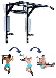 Shop Best Portable Wall Mounted Pull Up Bar - Chin Up Bar With Dip Bars For Home And Outdoor - Perfect Pull Up Machine - Up To Workout Crossfit Fitness Machine. Free delivery and returns on all eligible orders. Garage Gym, Basement Gym, Fitness Box, Fitness Studio Training, Fitness Style, Home Gym Exercises, At Home Workouts, Home Gym Equipment, No Equipment Workout