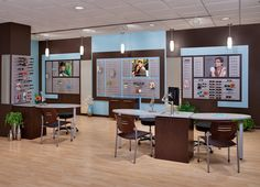 optometry display | Wall Displays, Graphics Holders, Dispensing Tables and Stations ...