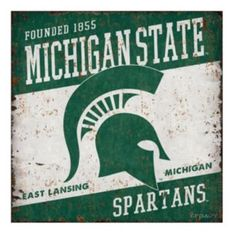 Legacy+Athletic+Michigan+State+Spartans+Large+Tin+Sign