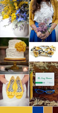 Sunny Yellow and Cobalt Blue Wedding Inspiration