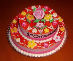 Crear para Endulzar: Primera Comunión María  First Communion Cake
