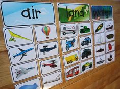 Transport Sortieren - Pre-K ideas - Transportation Preschool Activities, Transportation Unit, Preschool Science, Preschool Lessons, Science Activities, Early Education, Childhood Education, Creative Teaching, Fun Learning