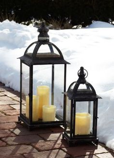 winter time lanterns | lanterns are perfect in all seasons