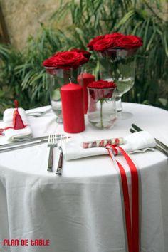 1000 images about mariage rouge et blanc on pinterest - Deco chambre rouge et blanc ...