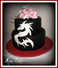 Asian Dragon Tribal Dragon cake