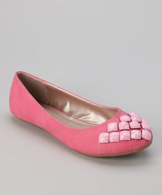 Take a look at this Pink Selina 17 Flat by Yoki on #zulily today!