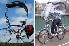 Objetos locos: los diseños más insólitos Una bicicleta con techo, una solución para los ciclistas en los días de lluvia y sol