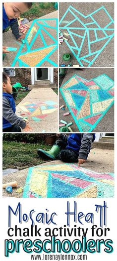 This is such an easy, no set-up activity that will stimulate, educate, and provide some fun gross and fine motor activity for your child. Give it a try on a nice day! #chalkactivities #chalkart #outdoorchalkactivities #grossmotoractivities #finemotoractivities #preschoolactivities #funpreschoolactivities #preschoolartprojects #colorlearningactivities #activitiesfortoddlers #outdoortoddleractivities Educational Activities For Toddlers, Winter Activities For Kids, Printable Activities For Kids, Summer Activities For Kids, Easy Crafts For Kids, Indoor Activities, Preschool Activities, Preschool Art Projects, Preschool At Home