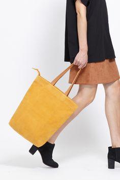 Wood Wood  Tote Bag (Beeswax Suede)