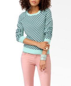 Okay... SO I may be going a little sweater crazy!!   Polka Dot Raglan Sweater | FOREVER21 - 2030186351
