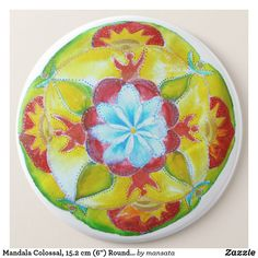 Yellow Red Mandala Watercolor Paper Plates 7 in Mandala Art, Paper Plates, Watercolor Paper, Party Supplies, Badge, Art Drawings, Create Your Own, Cute Animals, Yellow