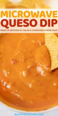Ready in seconds w/salsa Dip Recipes, Quick Recipes, Cooking Recipes, Healthy College Meals, College Food, Easy Microwave Recipes, Study Snacks, Cheddar Cheese Soup, Stuffed Hot Peppers