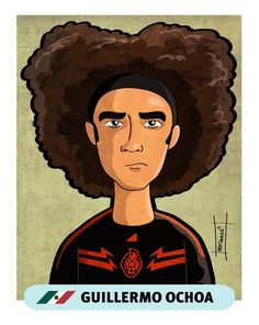 Brazil 2014 World Cup Stars by Mike Estrada, via Behance Mexico's Goalie Guillermo Ochoa. He is a brick wall! He's definitely on my list of great goalies. World Cup 2014, Fifa World Cup, Football Stickers, Football Pictures, Creative Posters, Chicago Bulls, Soccer Players, Worlds Of Fun, Brick Wall