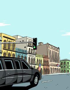 Green Light #obama #cuba #illustration #ilustracion